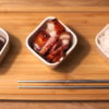Char sui BBQ pork and steamed rice
