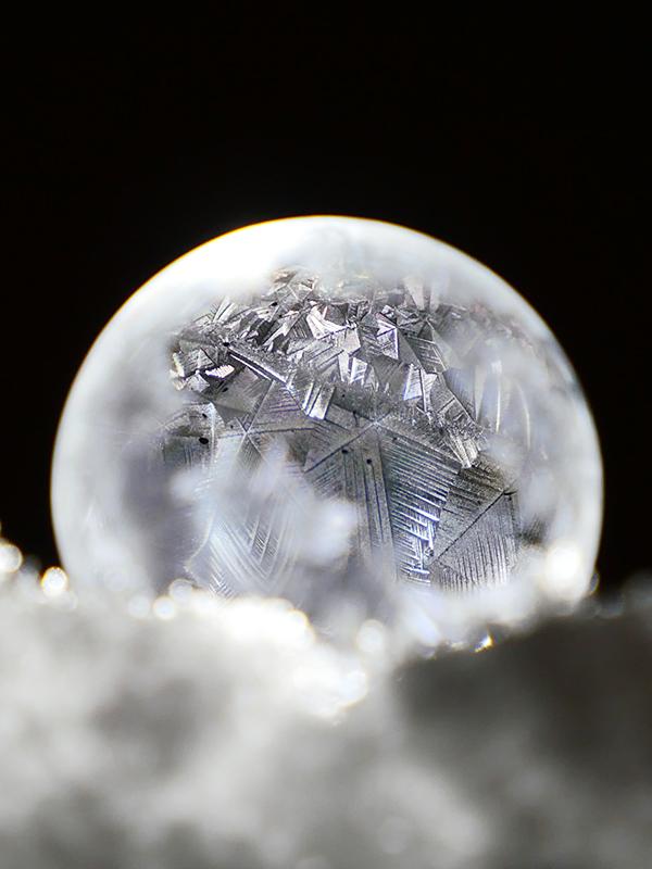 Crystals formation.