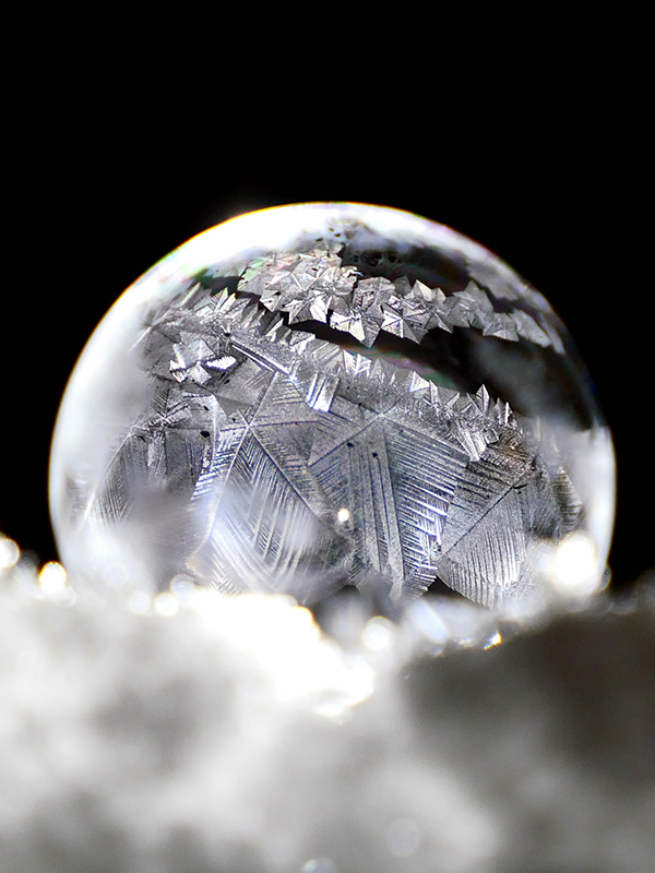 Crystal reformation.
