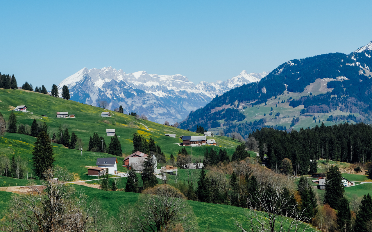 Postcard view of Switzerland