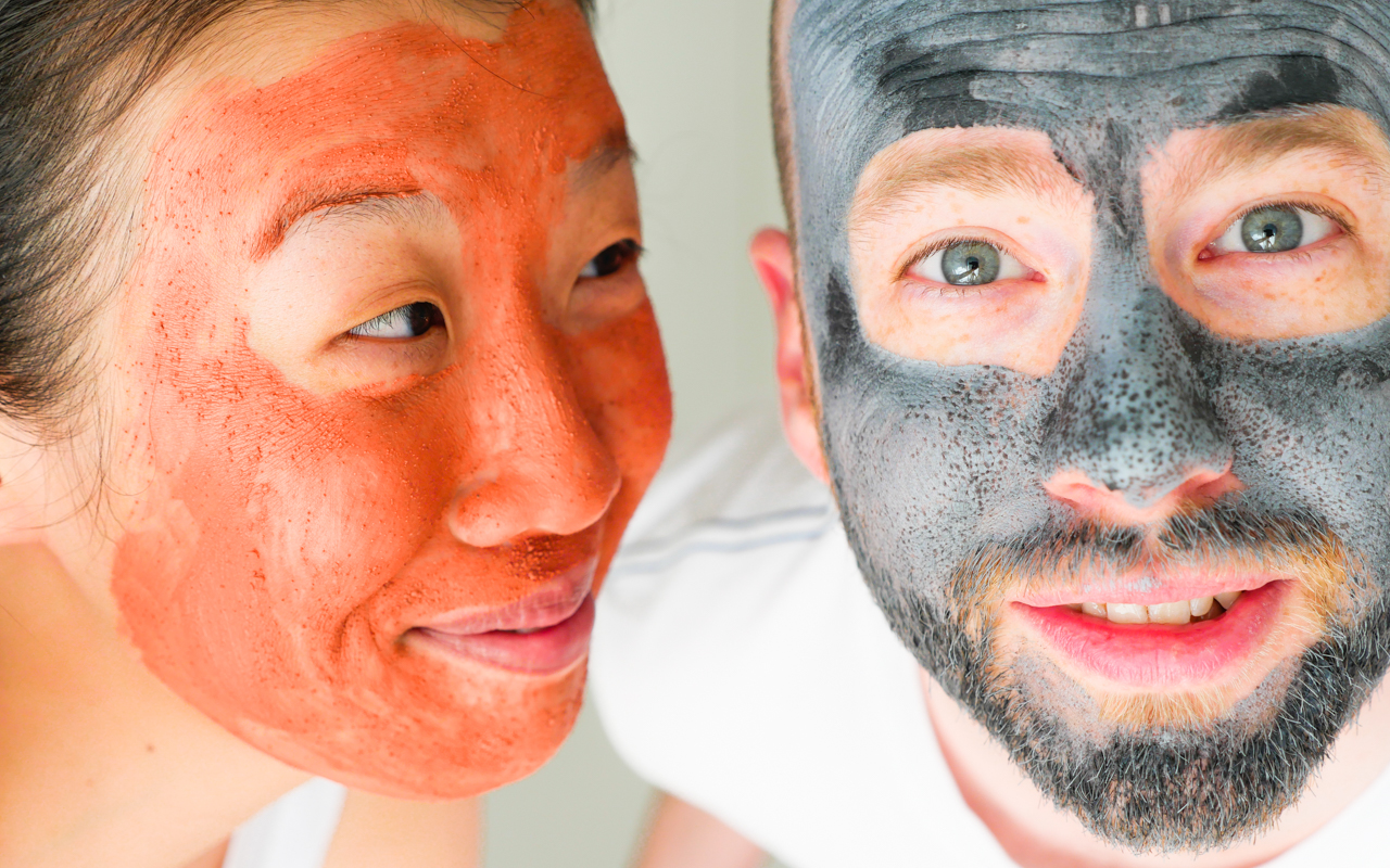 Couples who do facials together, stay together.