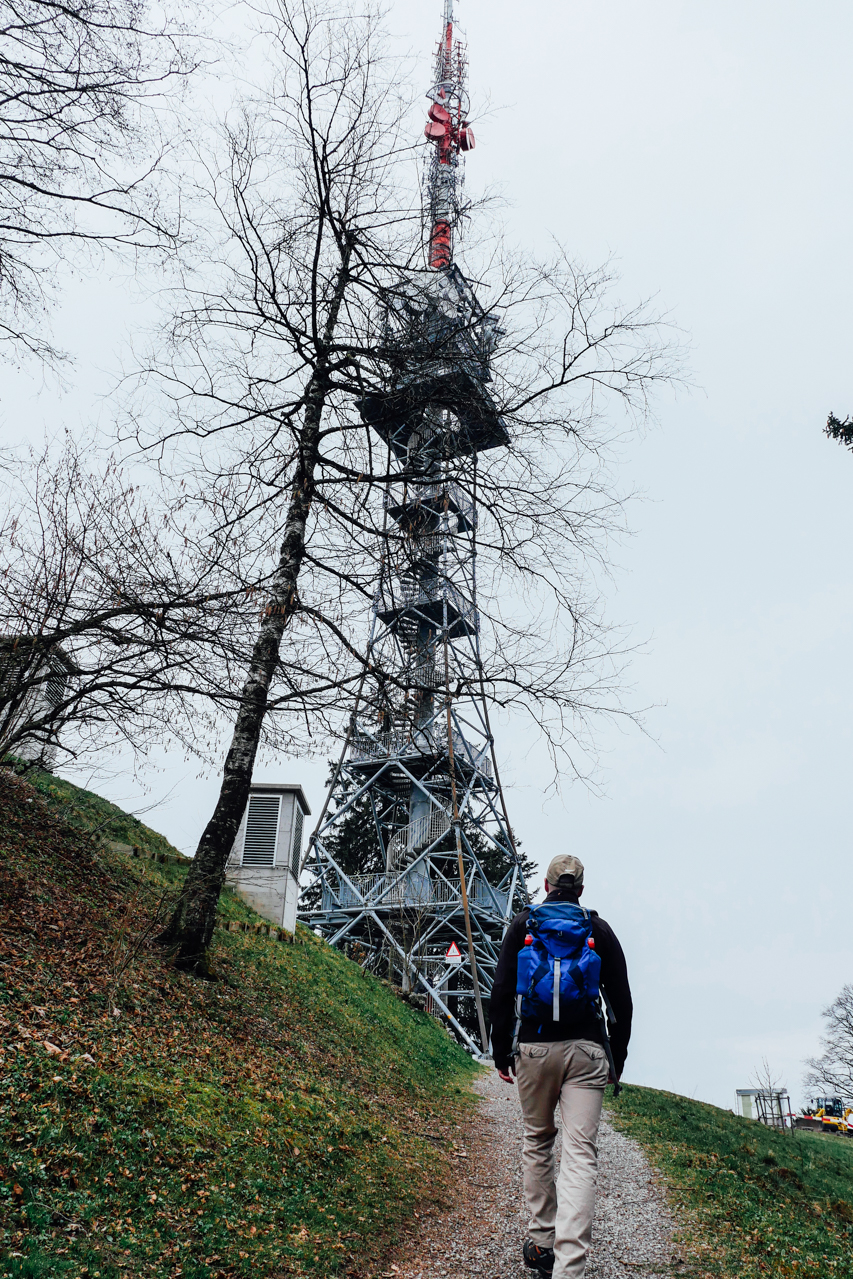 Bachtel Tower is a 60m tall radio tower. Visitors could use the stairs and scale the tower. There is a panoramic platform on the top.