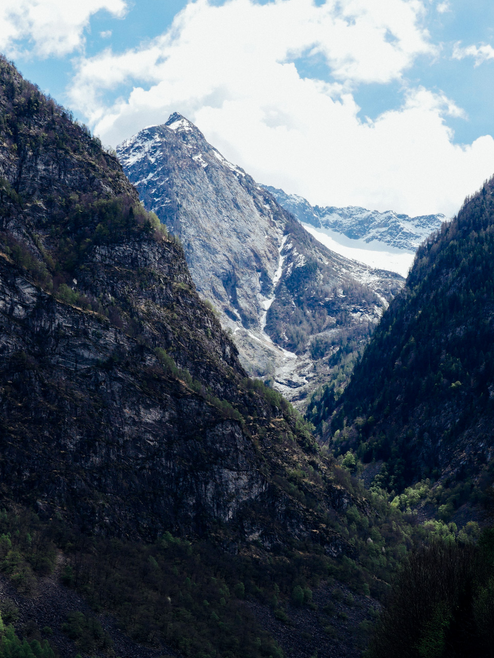 One of the mountains at Valle Maggia.