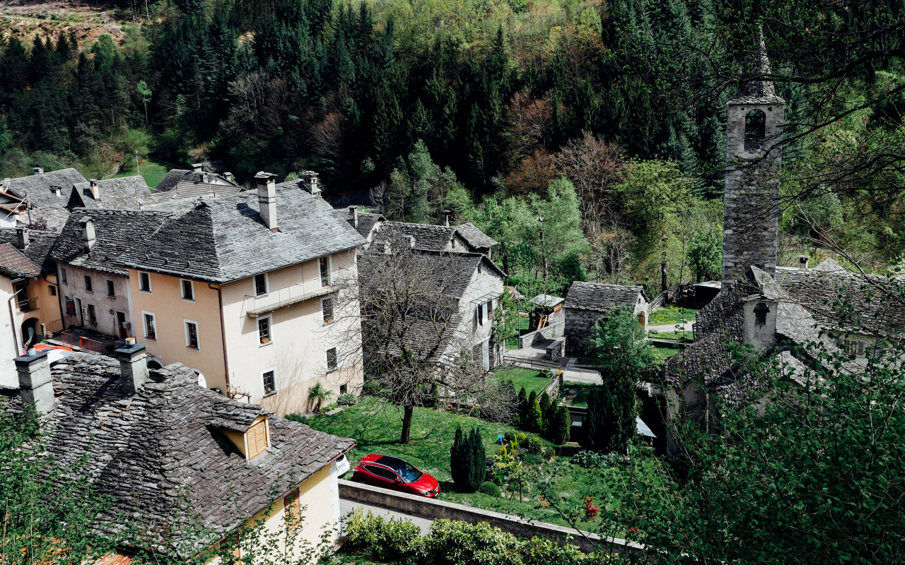 Ancient village in Valle Maggia.