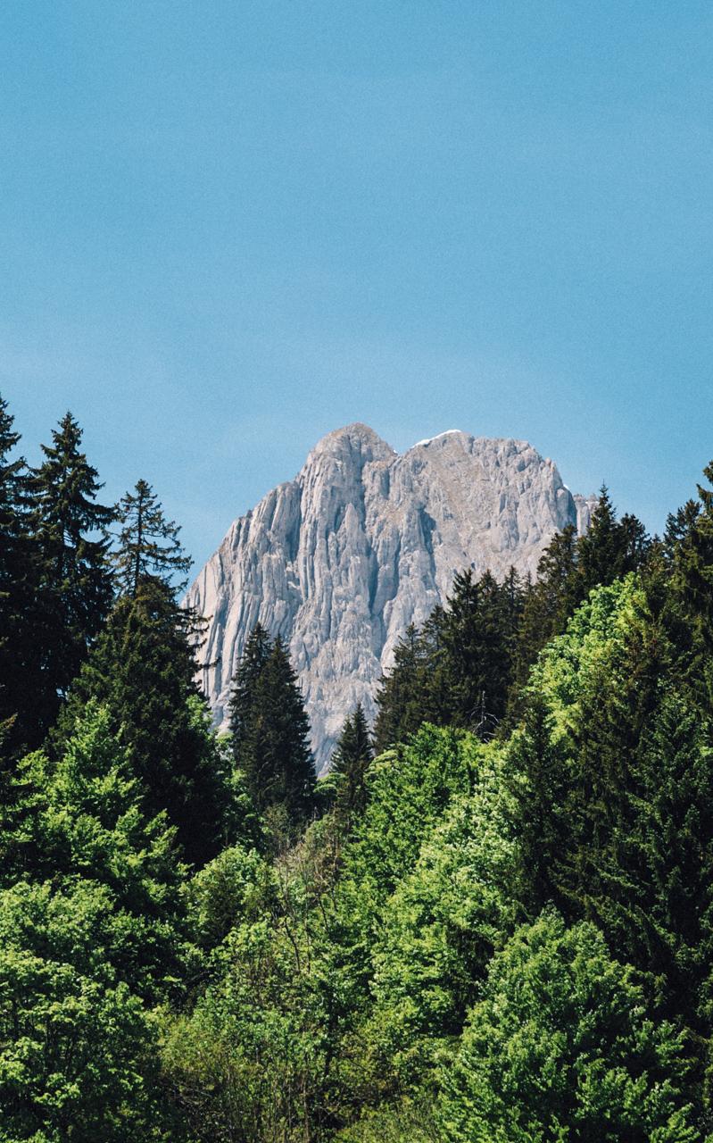 Peeking mountain.