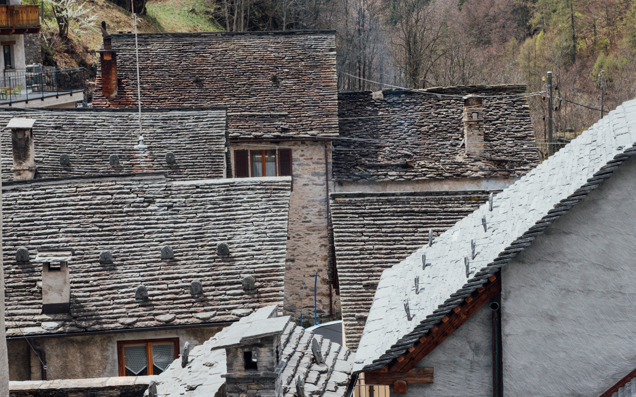 Stone roofs.