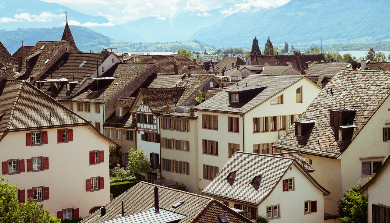 Old houses in Rapperswil