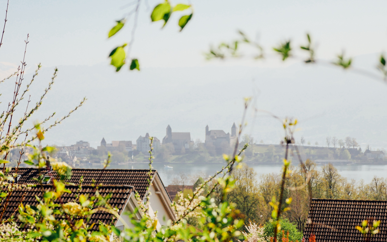Rapperswil Castle from afar.
