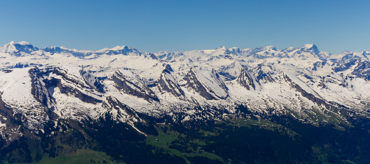 View from top of Säntis.