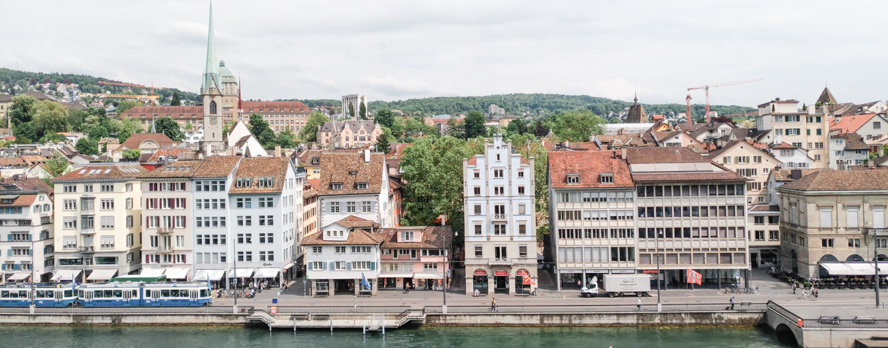 View of the old town from Lindenhof. title=View of the old town from Lindenhof.