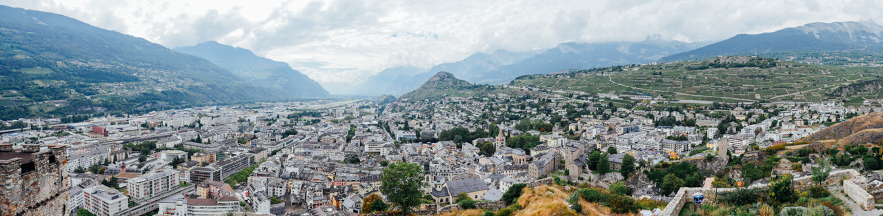 Panorama view of Sion.
