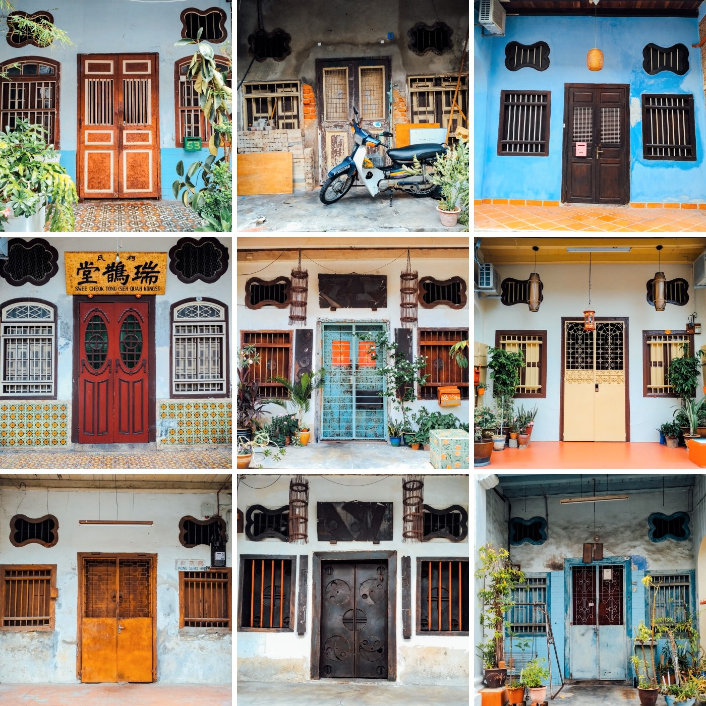 Doors around UNESCO Georgetown Heritage site.